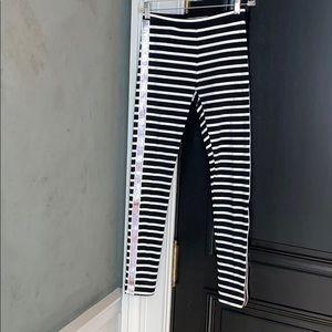 CREWCUTS BLACK/WHITE/MULTI STRIPE LEGGINGS SIZE 14